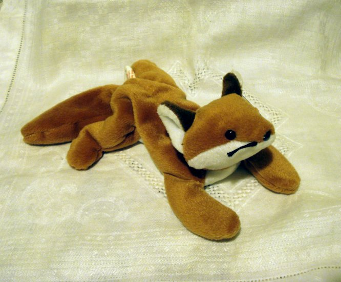 Sly the fox 1996 Ty Beanie Baby toy retired mint hc2420