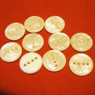 Vintage buttons lot of 10 white mother of pearl plastic 4 holes for sewing crafts jewelry hc2422