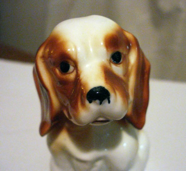 High glaze ceramic spaniel dog figurine perfect vintage hc2486