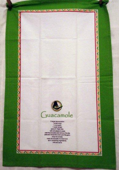 Guacamole recipe cotton towel DII unused hang tag vintage hc2495