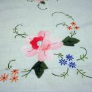 Applique and embroidered tablecloth cotton handmade shabby decor vintage hc2504