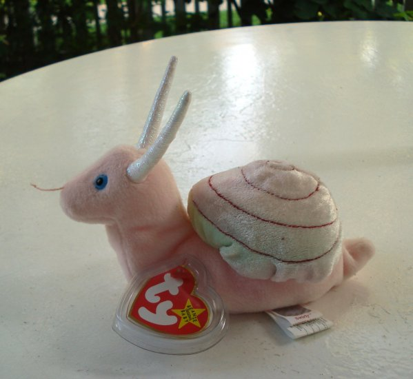 Swirly the garden snail Ty Beanie Baby toy retired mint hc2511