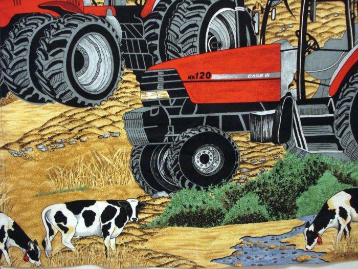 Case tractor Holstein cows child size chef's apron cotton vintage hc2512