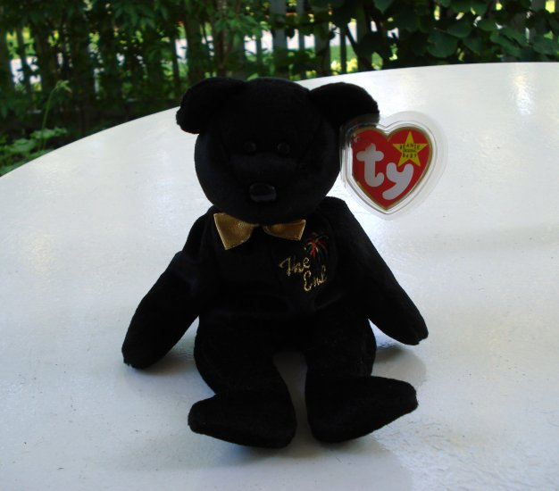 The End bear 1999 Ty Beanie Baby toy retired mint hc2543