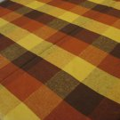 Retro checked tablecloth cotton unused vintage hc2603