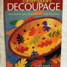 Contemporary Decoupage ideas book Linda Barker vintage hc2659
