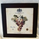 Ceramic tile of Louis Saint Pierre & Fils Pinot Noir wine label framed trivit preowned  hc2672