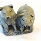 2 Pigs Mt. St. Helens volcanic ash figurine pre-owned hc2681