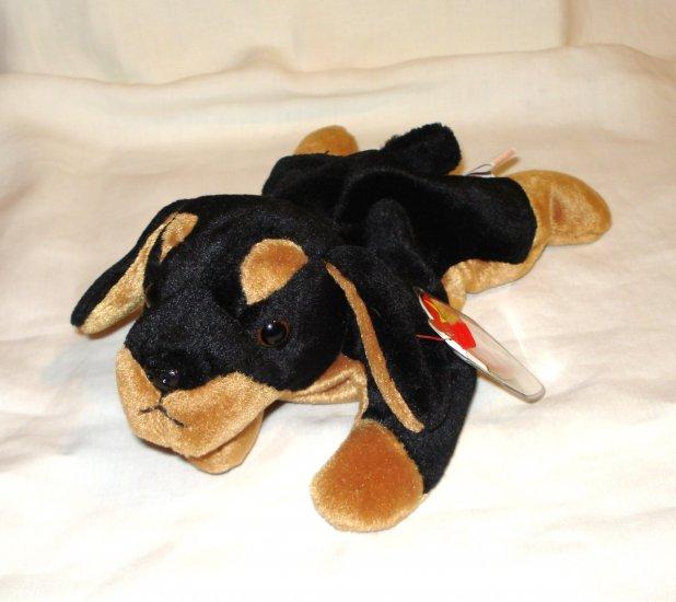 Doby the doberman dog 1996 Ty Beanie Baby toy retired mint hc2707
