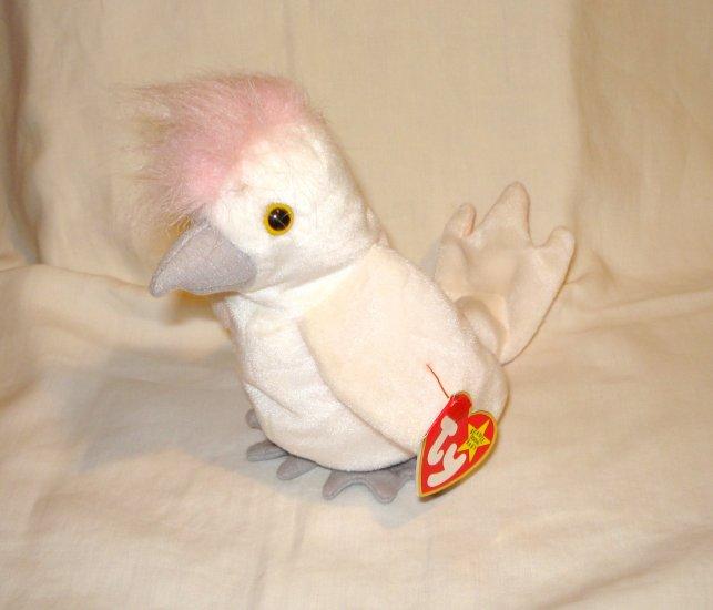Kuku the cockatoo 1997 Ty Beanie Baby toy retired mint hc2715