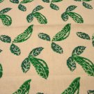 Hand stenciled peas in pod tea kitchen towel cotton exc preowned hc2830