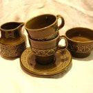 Beswick England Zorba cream sugar 2 cups saucers 1970 hc1135