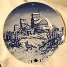 Hutschenreuther 1981 Canada Christmas plate Saskatchewan Winter porcelain hc2907