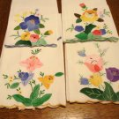 4 Appliqued cotton guest towels 3 mint 1 fine used condition hc2927
