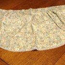 Blue green chintz peplum apron lace edged pocket unused hc2943