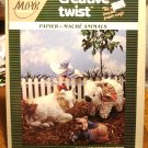 Creative Twist papier mache animals leaflet Cindy Groom Harry vintage hc2949