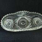 American Brilliant cut glass condiment dish made for Birks Canada antique hc2954