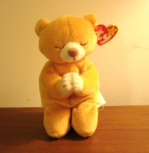 Hope the praying bear 1998 Ty Beanie Baby toy retired mint hc2963