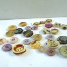 Lot of 28 mixed plastic buttons neutrals 2 and 4 hole vintage hc2968