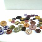 Lot of 35 mixed plastic buttons neutrals vintage hc2970
