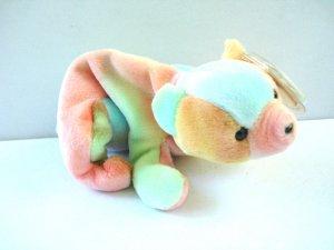 Sammy the tie dye bear 1998 Ty Beanie Baby toy retired mint hc2972