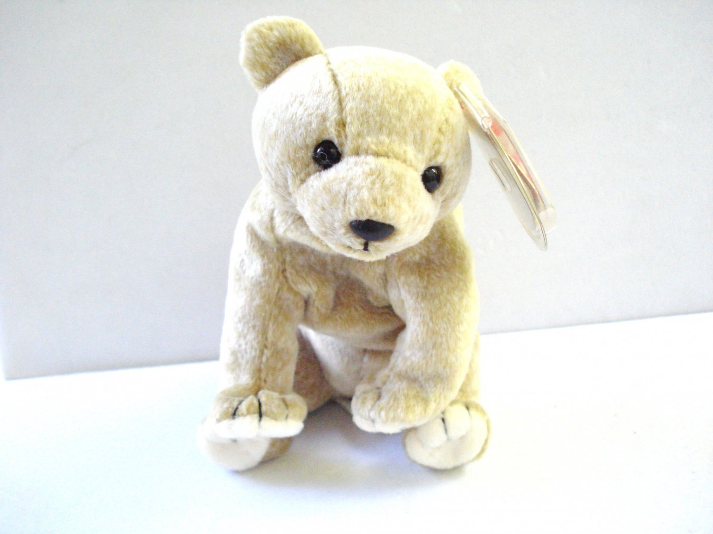 Almond the tan bear 1999 Ty Beanie Baby toy retired mint hc2976