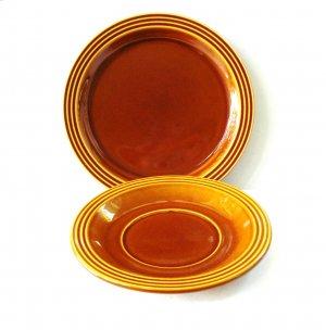 Hornsea Heirloom saucer and bread butter plate England 1974 vintage hc2980