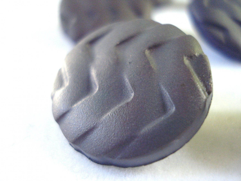 Lot of 9 molded plastic buttons shank back 2 sizes dark smoke vintage hc2984