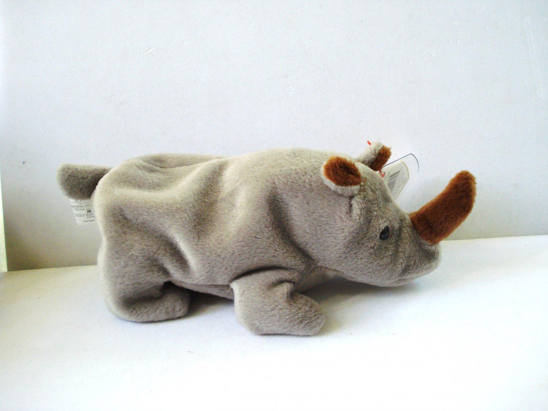 Spike the baby rhinoceros 1996 Ty Beanie Baby toy retired mint hc2987