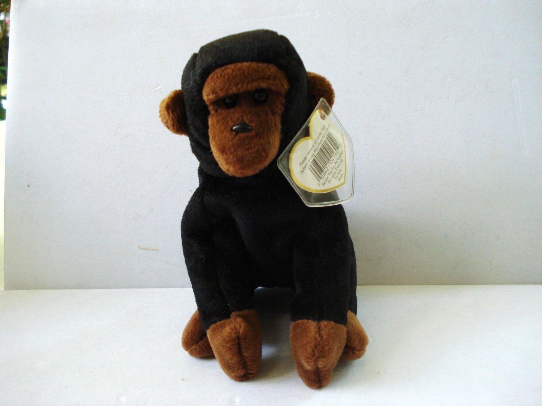 Congo the chimpanzee a 1996 Ty Beanie Baby toy retired mint hc2988