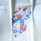 Floral printed linen hand guest towel tulips corn flowers vintage hc2996