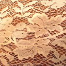 5 Pc lot of net lace doilies 1 set of 3 and 2 mats ivory vintage hc3004