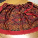 Challis paisley hostess apron autumn colors upcycled vintage hc3230