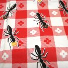 Kay Dee picnic chef's pron with ants burger red white check pre-owned hc3242