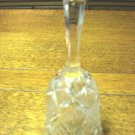 Pressed clear glass bell glass clapper 5.75 inches hexagonal handle vintage hc3282