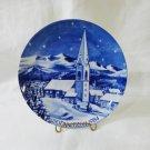 Weinnachten 1984 Christmas plate Bavaria Chapel in Tuxertal Zillertaler hc3328