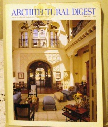 Architectural Digest April 1991 back issue Hudson River Valley vintage hc3337