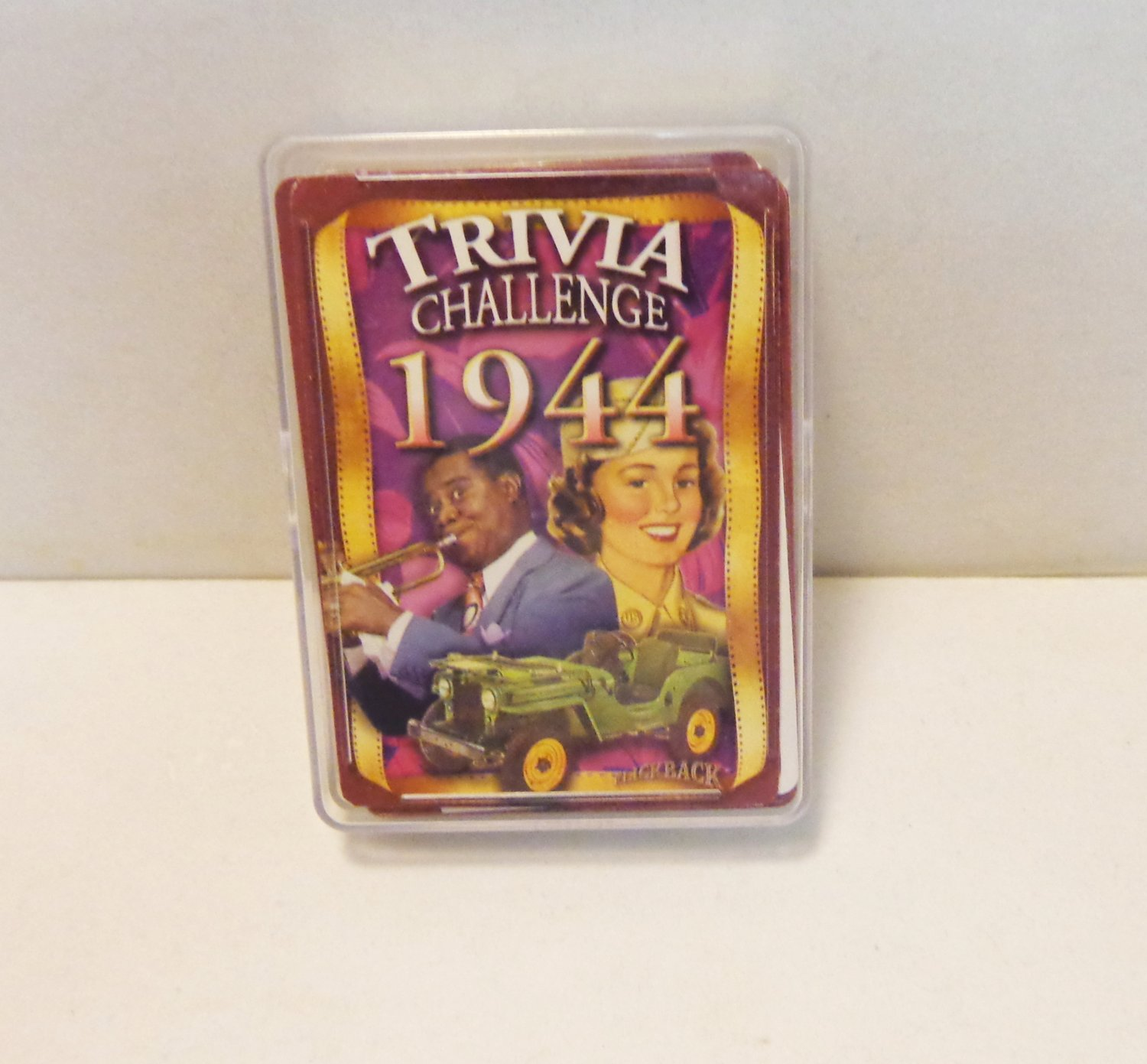 1944 Trivia deck playing cards 54 card deck sports history entertainment vintage hc3387
