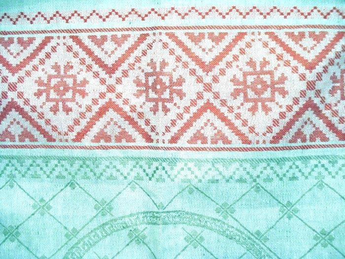Jacquard weave cotton towel fruit basket grapes unused vintage hc2041