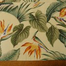 4 Reversible placemats 6 napkins 1940s barkcloth birds of paradise handmade recently hc3390