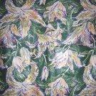 "Kew Gardens #2 lily cotton fabric Di Lewis 80 x 54"" ScG hc1296"