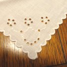 3 Antique white linen luncheon napkins whitework embroidery  hc3405
