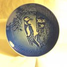 Bing and Grondahl 1980 Mother's Day plate Mors Dag woodpeckers blue BG porcelain hc3409