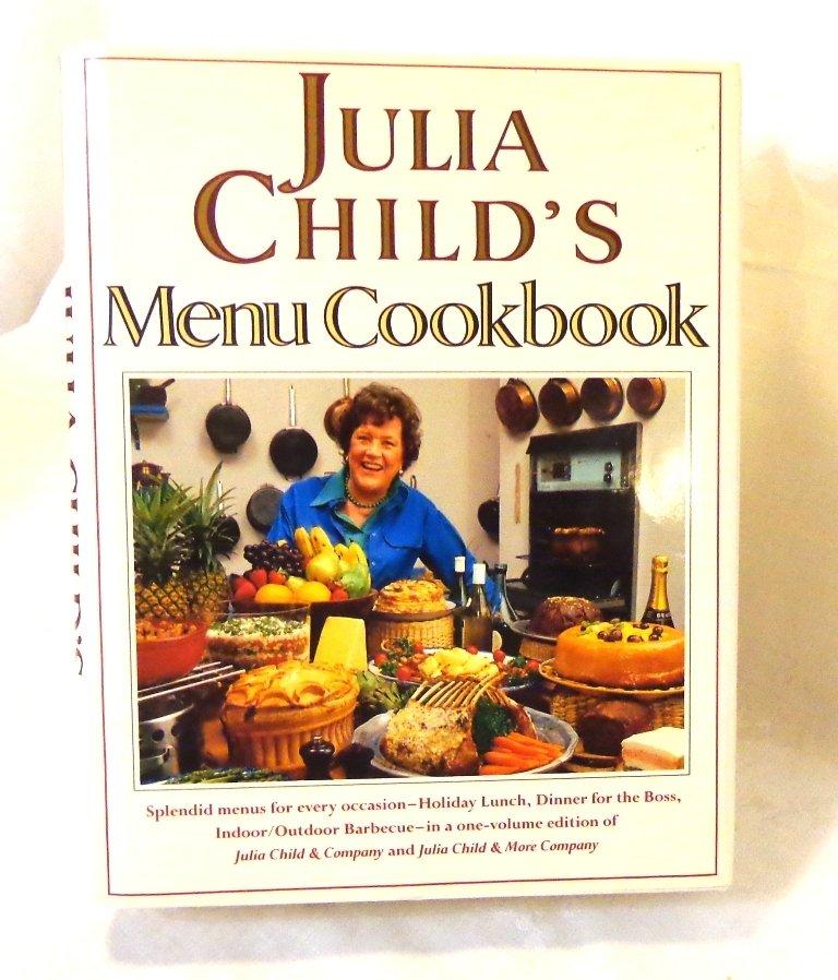 Julia Child's Menu Cookbook Wing Books 1st edition hard cover dust jacket hc3427