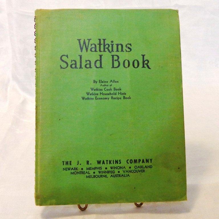 Watkins Salad Book spiral bound hard cover Elaine Allen 1946 Second edition hc3427