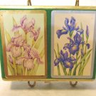 Double boxed deck of playing cards irises coated made by Congress hc3430