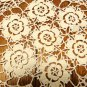 Hand crocheted doily floral center 11 inches white vintage hc3434