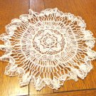 12 inch bobbin lace round doily white wispy spotless perfect vintage hc3443