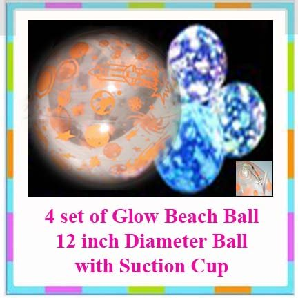 4 Beach Ball Set (Glow in the Dark) + Free Gift