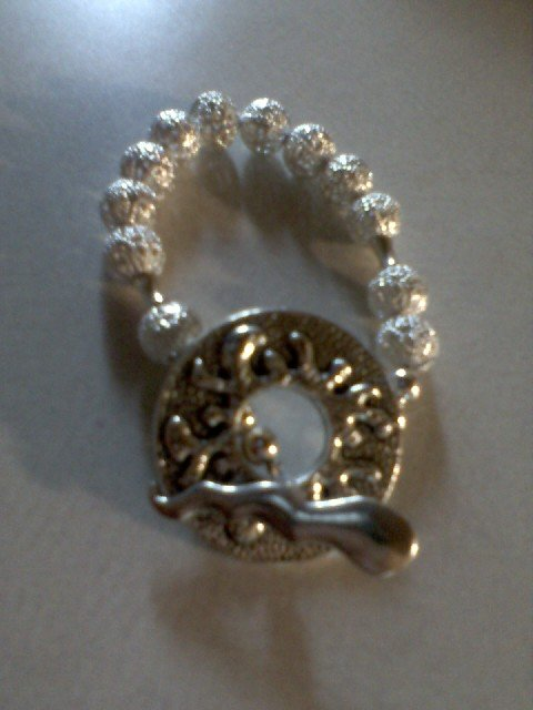 "Silver Ball ""Cool Clasp"" Bracelet"